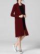 Elegant Long Sleeve Plain Knitted Cashmere Cardigan