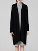 Black Pockets Long Sleeve Plain Knitted Cardigan