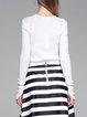 White Plain Elegant Knitted Sweater