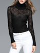 Casual Turtleneck Knitted Ribbed Long Sleeve Top