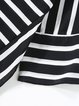 H-line Half Sleeve Stripes Paneled Long Sleeved Top