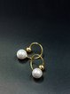 Golden 925 Sterling Silver Gold Plated Round Earrings