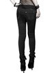 Black Sheath Washed Cutout Statement Cotton Jeans