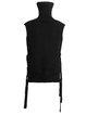 Black Turtleneck Bandage Sleeveless Sweater
