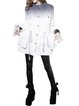 White Stand Collar Buttoned Long Sleeve Shift Cotton Coat