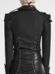 Black Statement H-line Solid Lace Up Long Sleeved Top