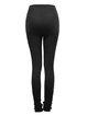 Black Casual Jacquard Pierced Skinny Leg Pants