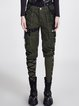 Pockets Cotton Lace Up Casual Skinny Leg Pants
