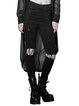 Black Statement Pierced Lace Up Skinny Leg Pants