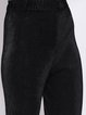 Black Solid Casual Crinkled Straight Leg Pants