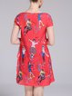 A-line Casual Graphic Short Sleeve Crinkled Mini Dress