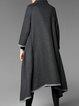 Lapel Asymmetric Long Sleeve Statement Coat