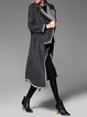 Lapel Asymmetric Long Sleeve Statement Coat