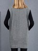 Gray Wool Sleeveless Lapel Vest