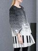 Black Wool Blend Statement H-line Coat