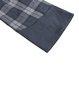 Blue Checkered/Plaid H-line Casual Paneled Mini Dress