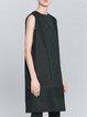 Black H-line Paneled Elegant Midi Dress