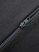 Black H-line Crew Neck Zipper Casual Coat