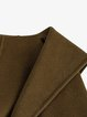 Army Green Casual Pockets Wool Coat