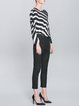 Black Casual Pockets Plain Cropped Pants