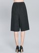 Black Pockets Casual H-line Wide Leg Pants