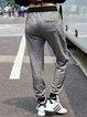 Gray Casual Pockets Track Pants