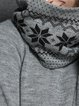 Gray Knitted Pockets Casual Sweater