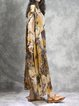 Yellow Casual Floral Printed Dress
