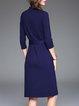 Work Pockets A-line Midi Dress