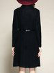 Black Pockets Long Sleeve Coat