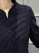 Royal Blue A-line Long Sleeve Elegant Midi Dress