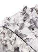 Light Gray Printed Elegant Ruffled Mini Dress