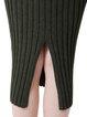 Knitted Casual Slit Midi Skirt