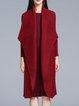 Burgundy Long Sleeve Solid Coat