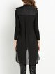 Black H-line Casual Slit Vest
