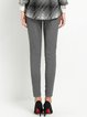 Light Gray Casual Pockets Skinny Leg Pants
