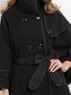 Black Pockets Plain Long Sleeve Coat