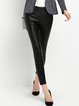 Black Casual Sheath Skinny Leg Pants