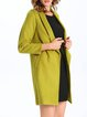 Light Green Symmetric Long Sleeve Lapel Coat