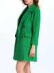 Green Pockets H-line Casual Coat