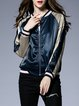 Embroidered Floral Long Sleeve Stand Collar Casual Bomber Jacket