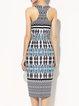 Checkered/Plaid Elegant Sleeveless Midi Dress