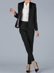 Black Long Sleeve Lapel Paneled Blazer