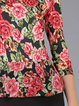 Multicolor Printed Bodycon Floral Elegant Midi Dress