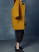 Yellow Stand Collar Elegant Coat