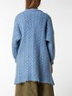 Wool Blend Pockets Balloon Sleeve Cardigan