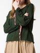Dark Green Long Sleeve Jersey Sweater