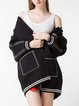 Long Sleeve Letter Casual Cardigan