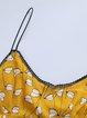 Yellow Spaghetti  Printed Midi Dress