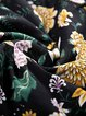 Crochet-trimmed Polyester Girly Long Sleeve Floral-print Midi Dress